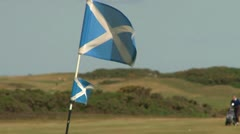 Scottish Golf Flag Stock Footage