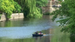 Romantic Rowing Boat Stock Footage
