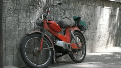 Old motorbike 003 Stock Footage