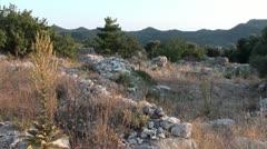 Turkish inland on the Lycian way Stock Footage