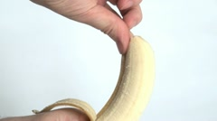Peeling a Banana Stock Footage