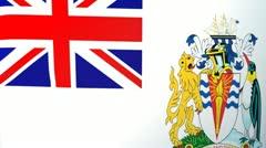British Antarctic Territory Waving Flag Stock Footage