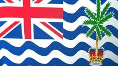 British Indian Ocean Territory Waving Flag Stock Footage