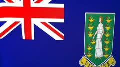 British Virgin Islands Waving Flag - stock footage