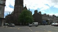 Scottish Church at Road Juntion Stock Footage