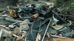 Japan Tsunami Aftermath- Survivor and Wreckage - stock footage
