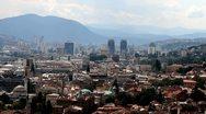 Sarajevo panorama 001 Stock Footage