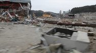 Stock Video Footage of Japan Tsunami Aftermath-Driving Past Disaster
