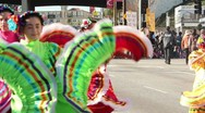 Stock Video Footage of Traditional Mexican Dancers in Parade