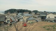 Stock Video Footage of Japan Tsunami Aftermath-Destroyed Neighborhood