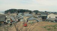 Japan Tsunami Aftermath-Destroyed Neighborhood Stock Footage