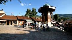 Sarajevo sebilj dan001 Stock Footage