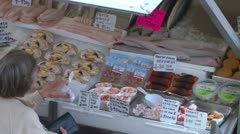 Fish Market Stall Stock Footage