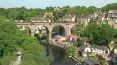 Knaresborough Rail Bridge Stock Footage