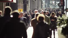 City street crowd slow motion Stock Footage