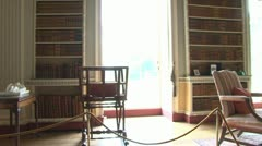 Manor House Library Room Stock Footage