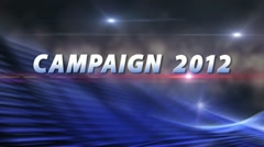SPECIAL REPORT CAMPAIGN 2012 Election News Bumper ProRes Stock Footage
