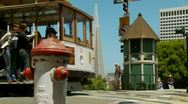 Stock Video Footage of San Francisco Cable Car 07 HD