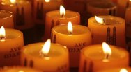 Candles in a temple Stock Footage