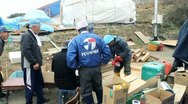 Japan Tsunami Aftermath: Survivors Stock Footage