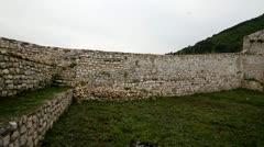 Old castle in Travnik, Bosnia and Herzegovina Stock Footage