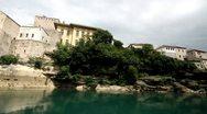 Old bridge in Mostar, Bosnia and Herzegovina Stock Footage