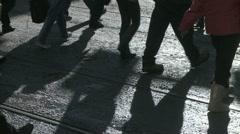 Pedestrian shadows 01 - stock footage