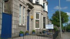 Aberdeen Guest House Stock Footage