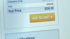 """Add to Cart"" button. Internet Shopping. - stock footage"