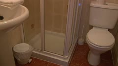 Bathroom with Shower Stock Footage