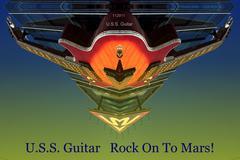 uss guitar.jpg - stock photo