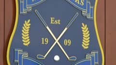 Murcar Links Golf Club Crest Stock Footage