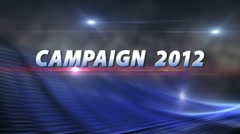 CAMPAIGN 2012 News Election Bumper with Clean Background ProRes Stock Footage