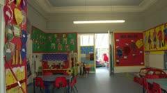 Kindergarten Nursery School Classroom Stock Footage