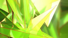 Triangle - 2.1 - Green - Left - 2 - stock footage