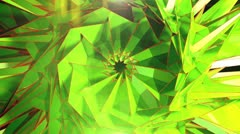 Triangle - 3 - Green - stock footage