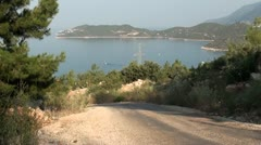 View on road downhill Stock Footage