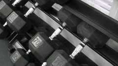 Stock Video Footage of dumbells