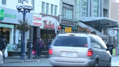 Downtown Toronto, Yonge street close to Bloor Stock Footage
