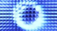 Pin-board blue Stock Footage