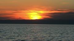 Baikal sunset Stock Footage