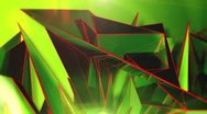 Stock Video Footage of Triangle - 7 - Green - Center