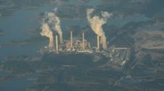 Coal fired power plant Stock Footage