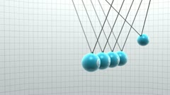 Newton pendulum with different currencies on it Stock Footage