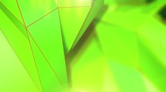 Triangle - 8 - Green - Left - stock footage