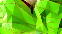 Triangle - 9 - Green - BG - stock footage