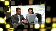 Montage about business communication Stock Footage
