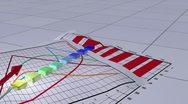 Animated bar graph Stock Footage