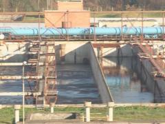 Waterworks sawage treat Stock Footage