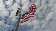 Stars and stripes, American flag blowing in the wind Stock Footage